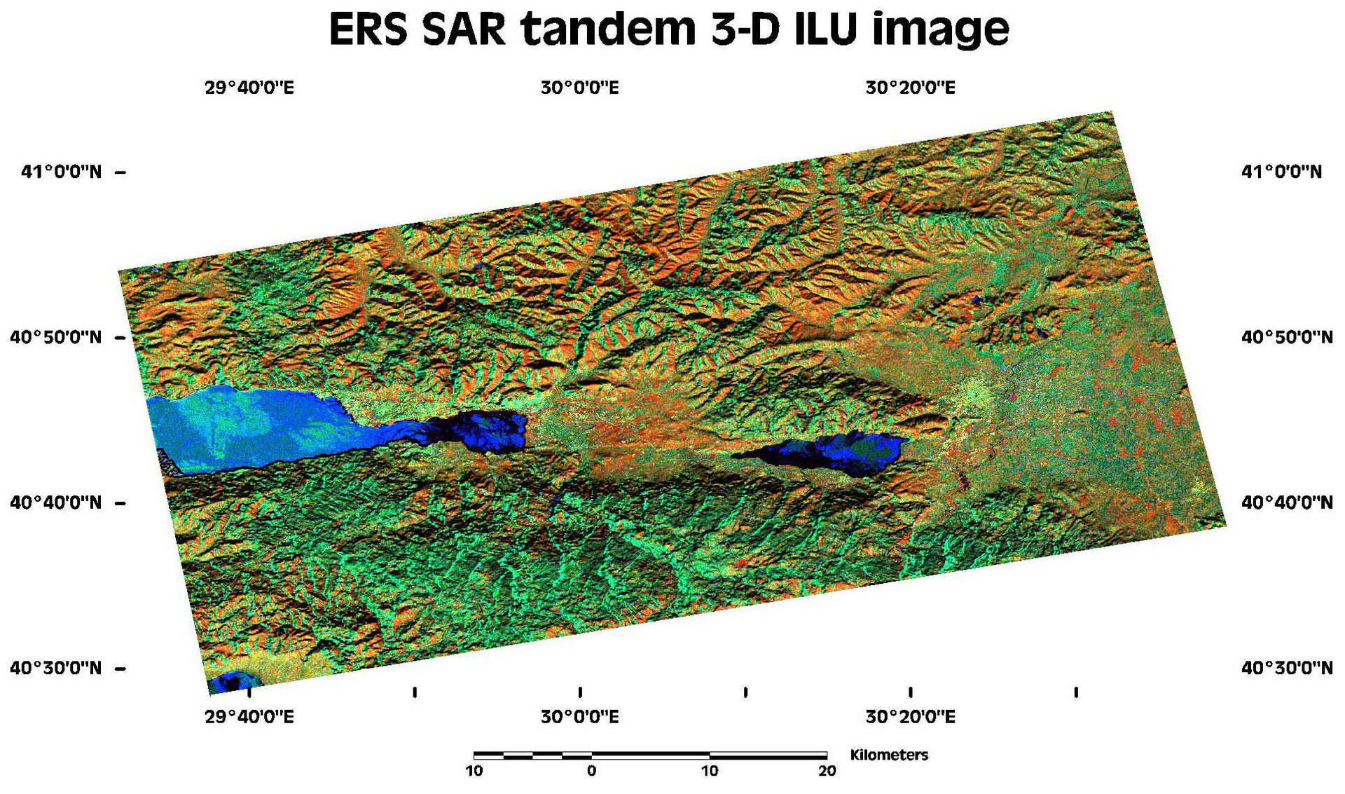 ERS-SAR image of earthquake region in Turkey