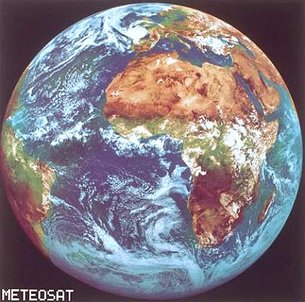 Meteosat-4 Earth image