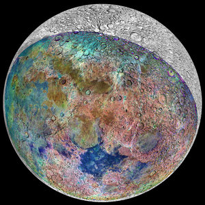 False colour image of the Moon
