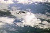 storm clouds seen frrm the ISS