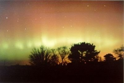 Aurora near Aberdeen, UK, 27-Nov-2000