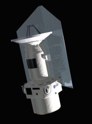 Artist's impression of the Herschel Space Observatory