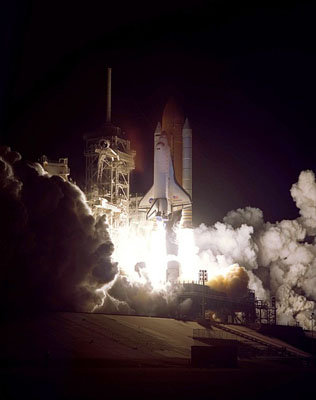 Liftoff of Space Shuttle Endeavour on mission STS-97