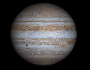 True-colour simulated view of Jupiter (NASA/JPL)