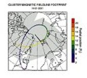 Map of radar footprints and Cluster ground track (Courtesy Mike
