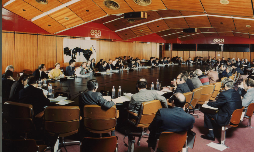 Meeting room at ESA headquarters in Paris