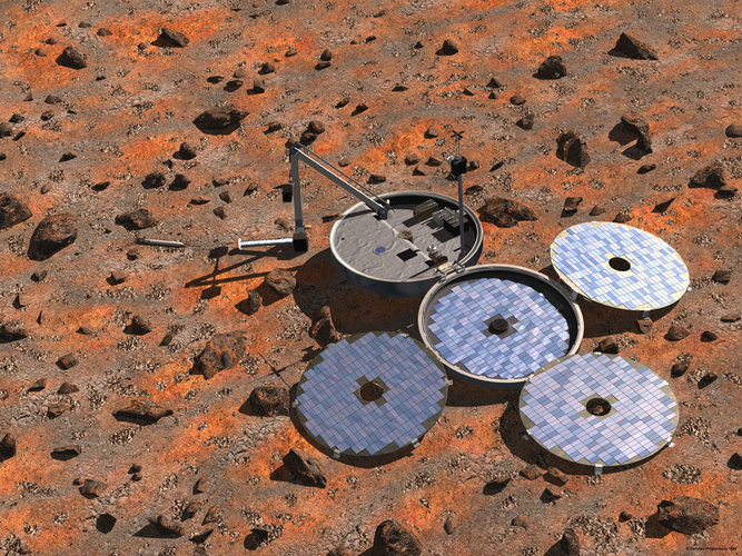 Artist's impression of Beagle 2 lander