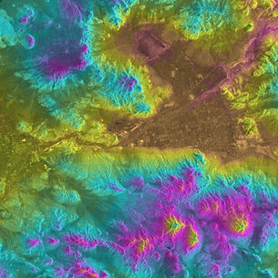 ERS-1/ERS-2 Tandem Digital Elevation Model over Barstow Californ