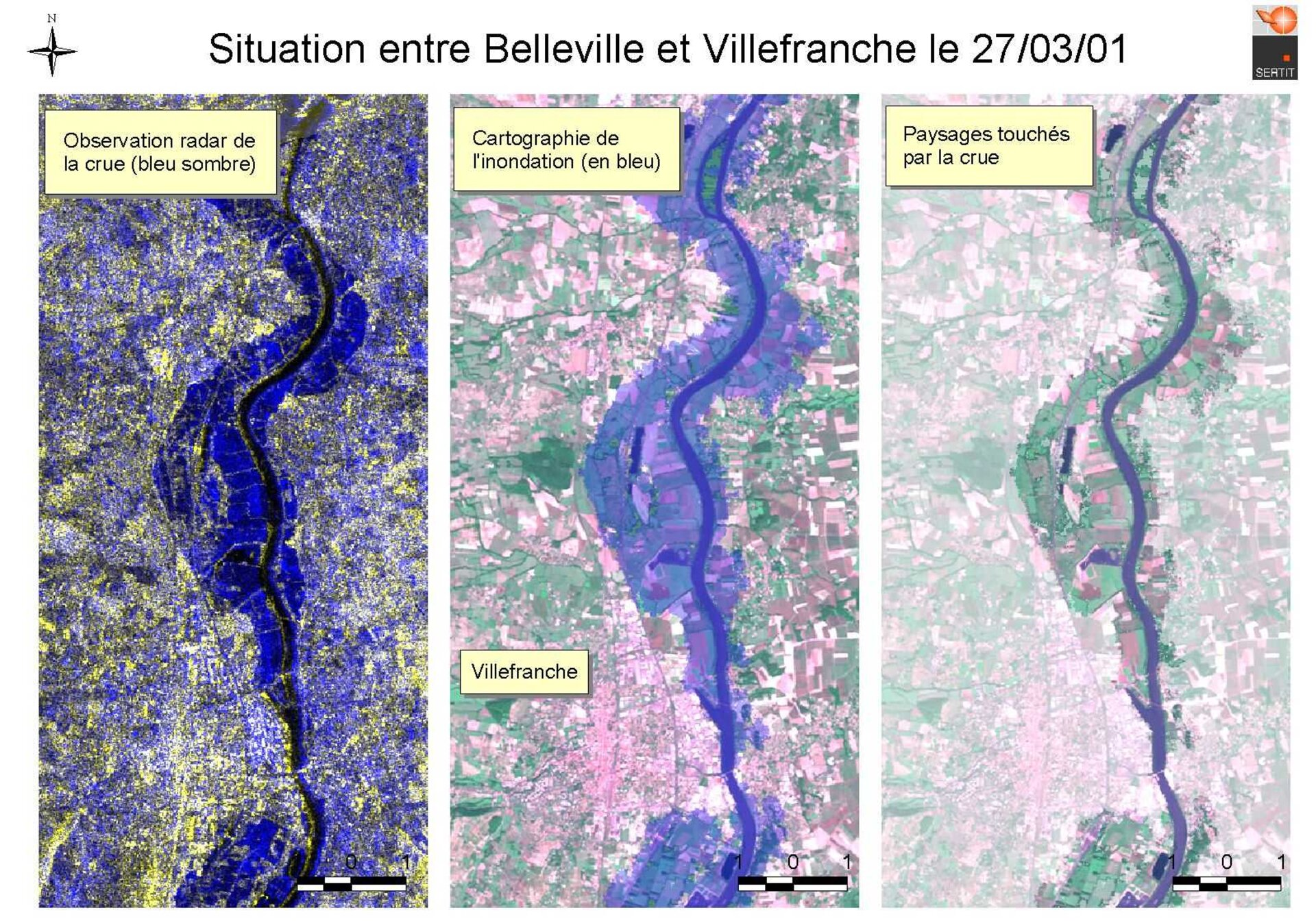 Situation between Belleville and Villefranche on 27/03/01