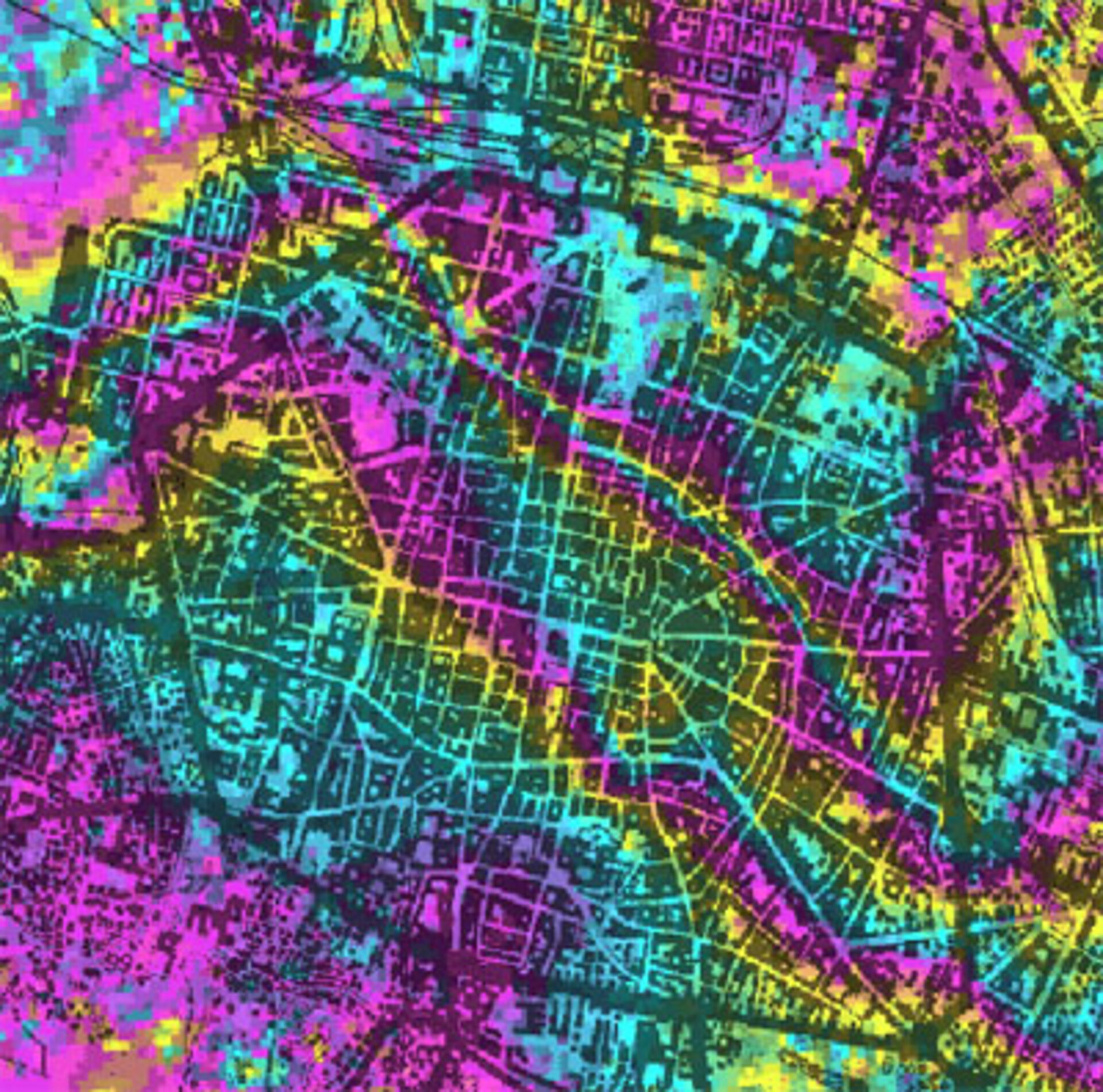 Subsidence map of Bologna from ERS differential interferometry