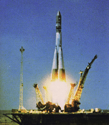 The launch of Vostok 1