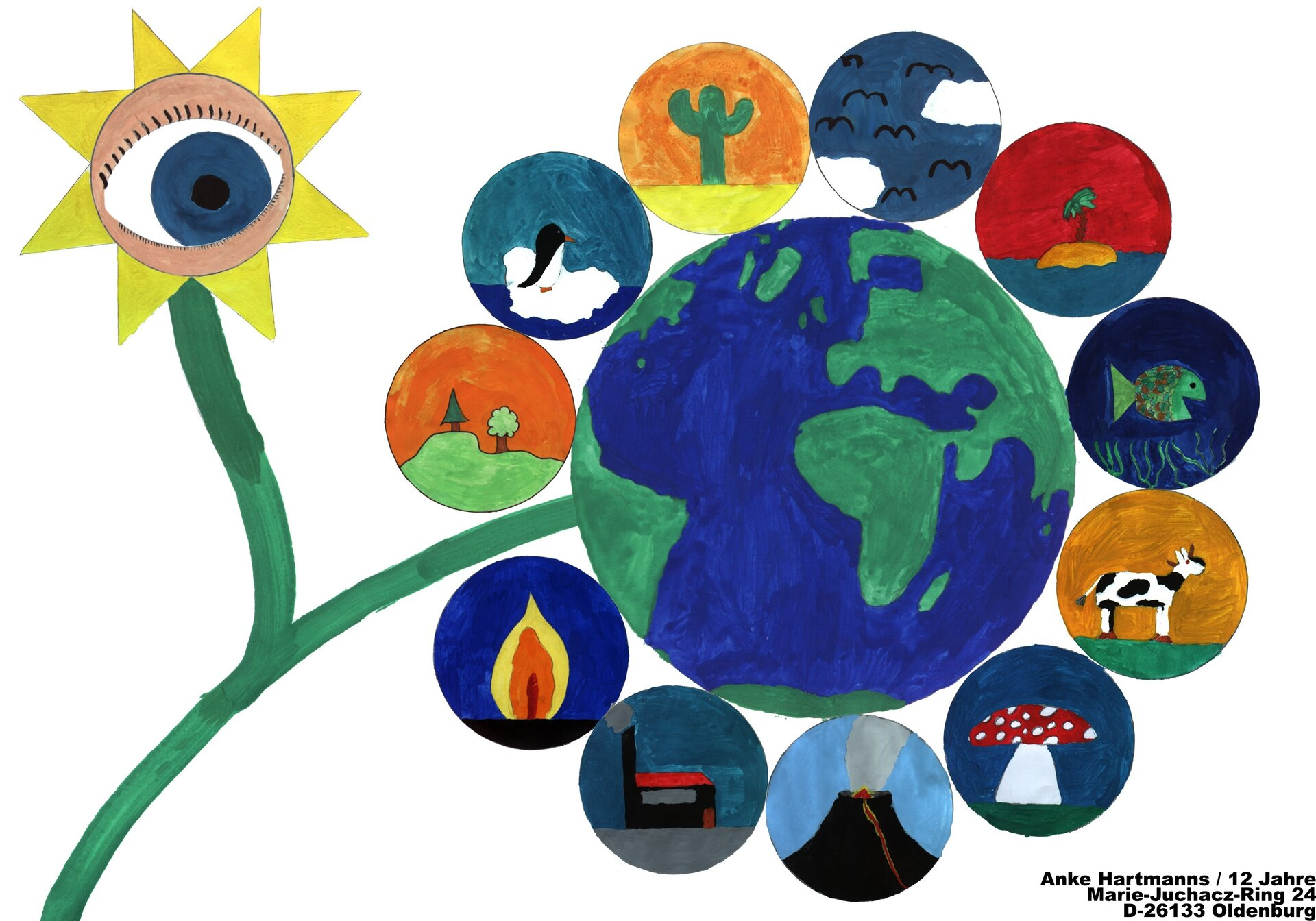 Anke Hartmanns, Germany, winner of ESA's Earth Flag competition