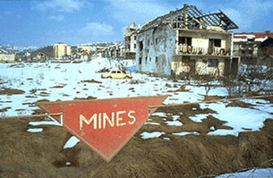 Land mines are one of the main obstacles to the return of refuge