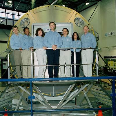 STS-107 crew at ESTEC for training