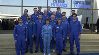 ESA astronauts at Le Bourget 22 July, 2001