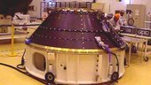 The ACU Ariane adapter onto which the spacecraft is directly mou
