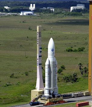Ariane 5 on its mobile launch table
