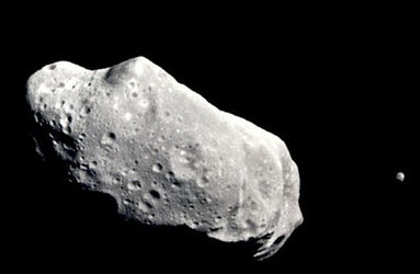 Asteroid 243 Ida and its newly discovered moon, Dactyl
