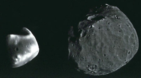 Mars' asteroid-sized satellites Deimos and Phobos