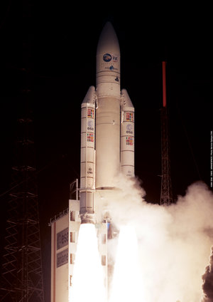 The Ariane 5 Flight 142 launch