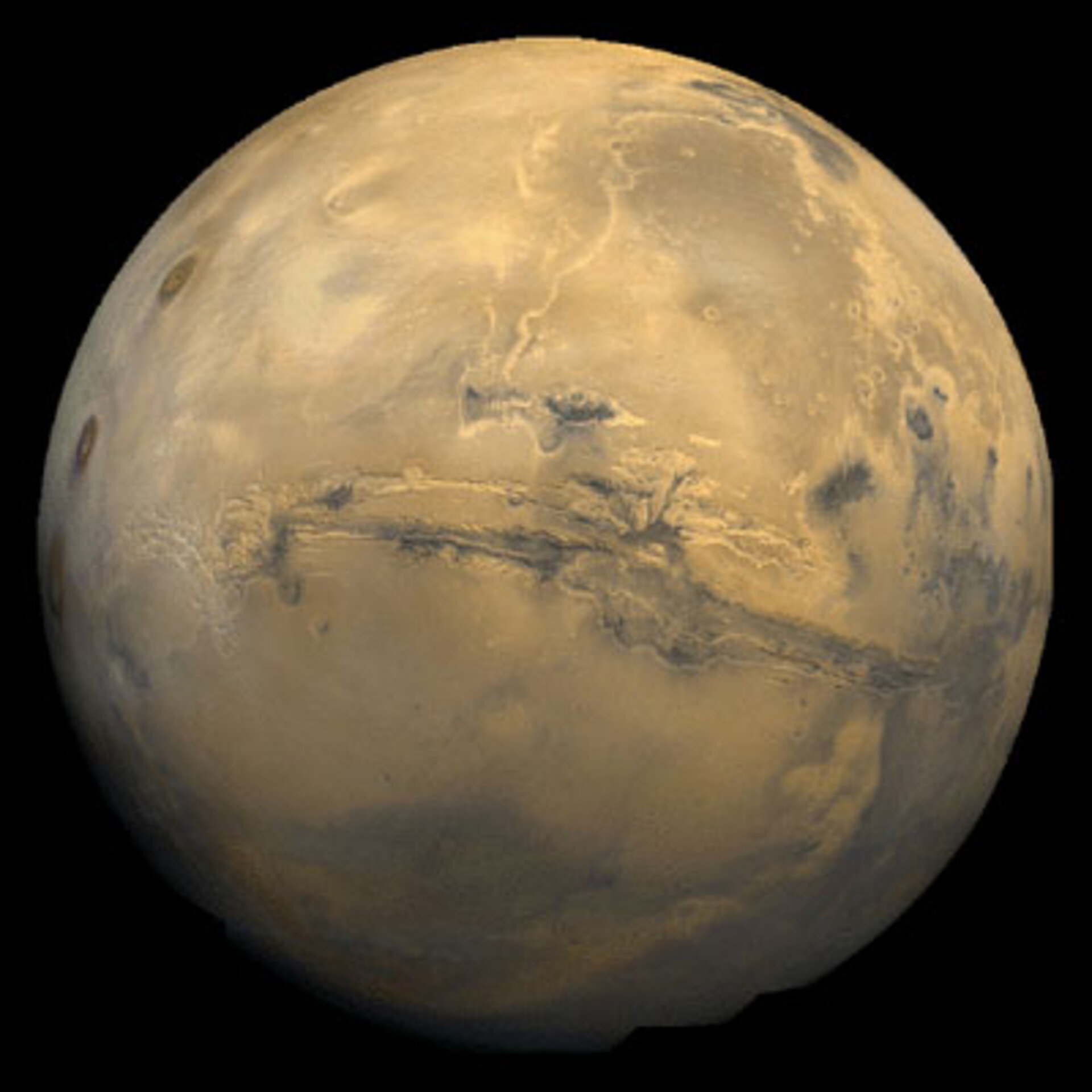 The Valles Marineris hemisphere of Mars