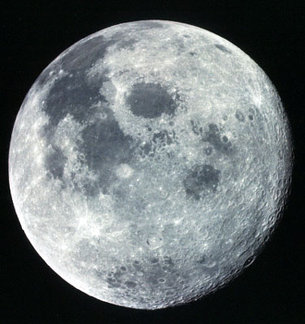 View of the  Moon seen Apollo 17