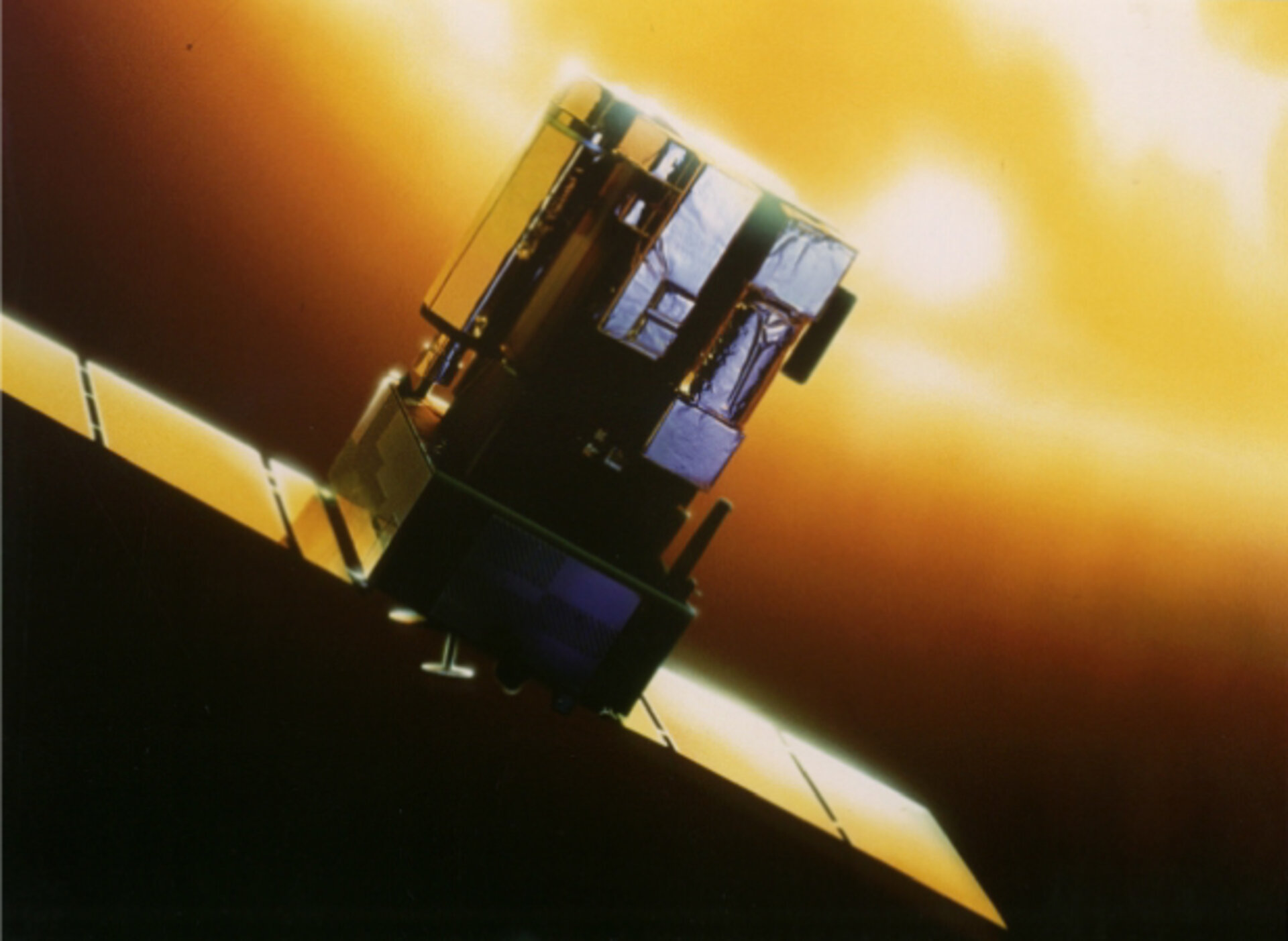 Artist's impression of the SOHO spacecraft