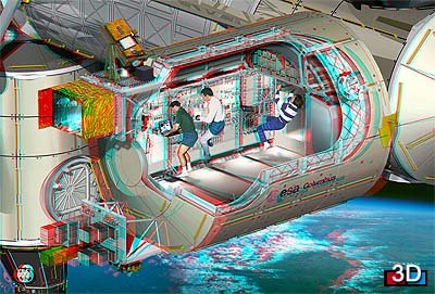 International Space Station 3-D