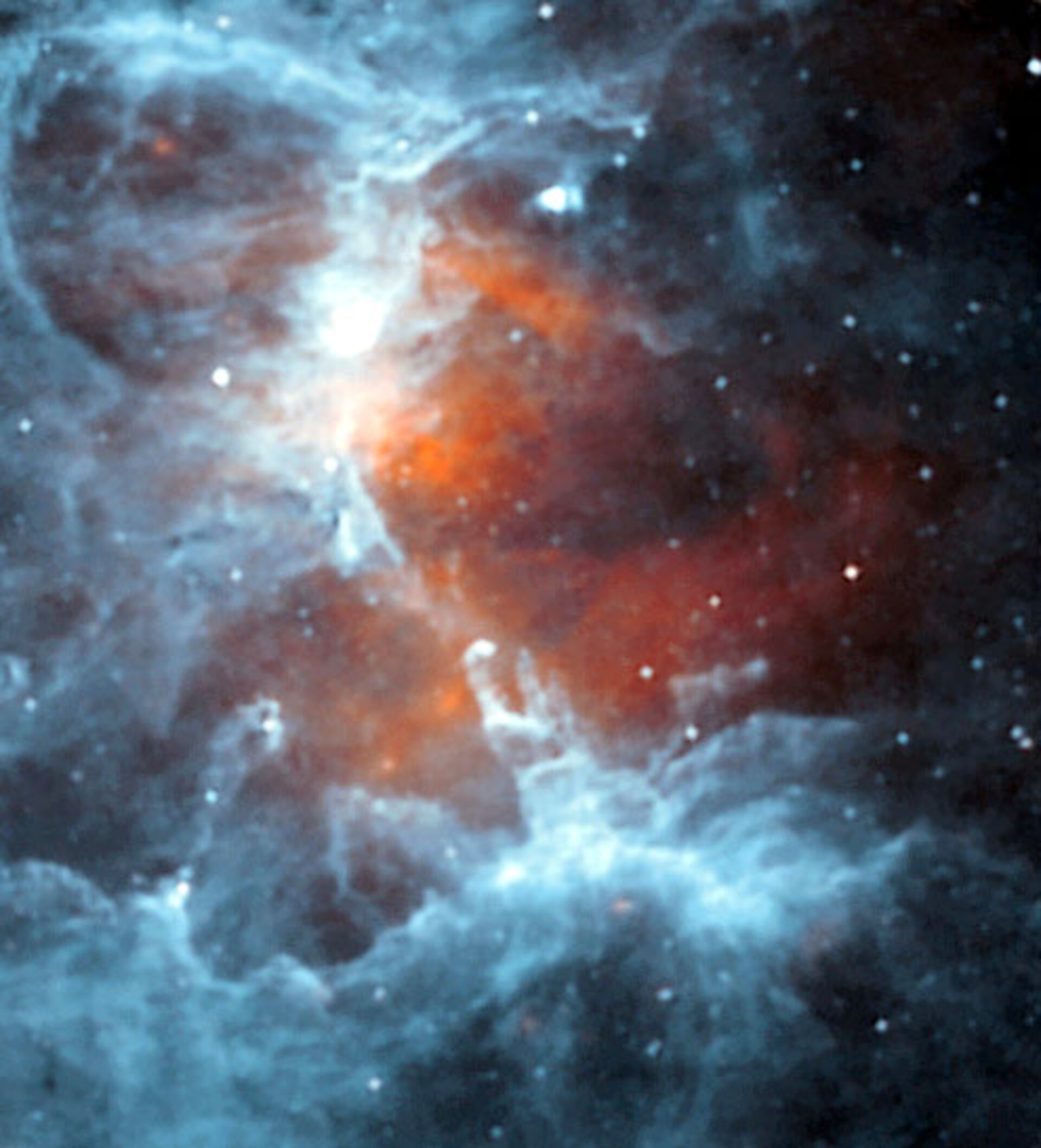 Cold comfort for newborn stars - ISO unmasks the icy veil around the Eagle's fiery heart