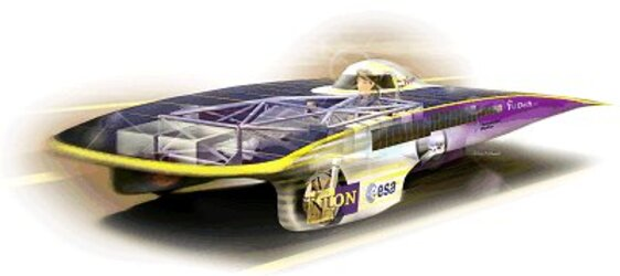 Space technology and expertise in the Dutch solar powered racing car 'Nuna'