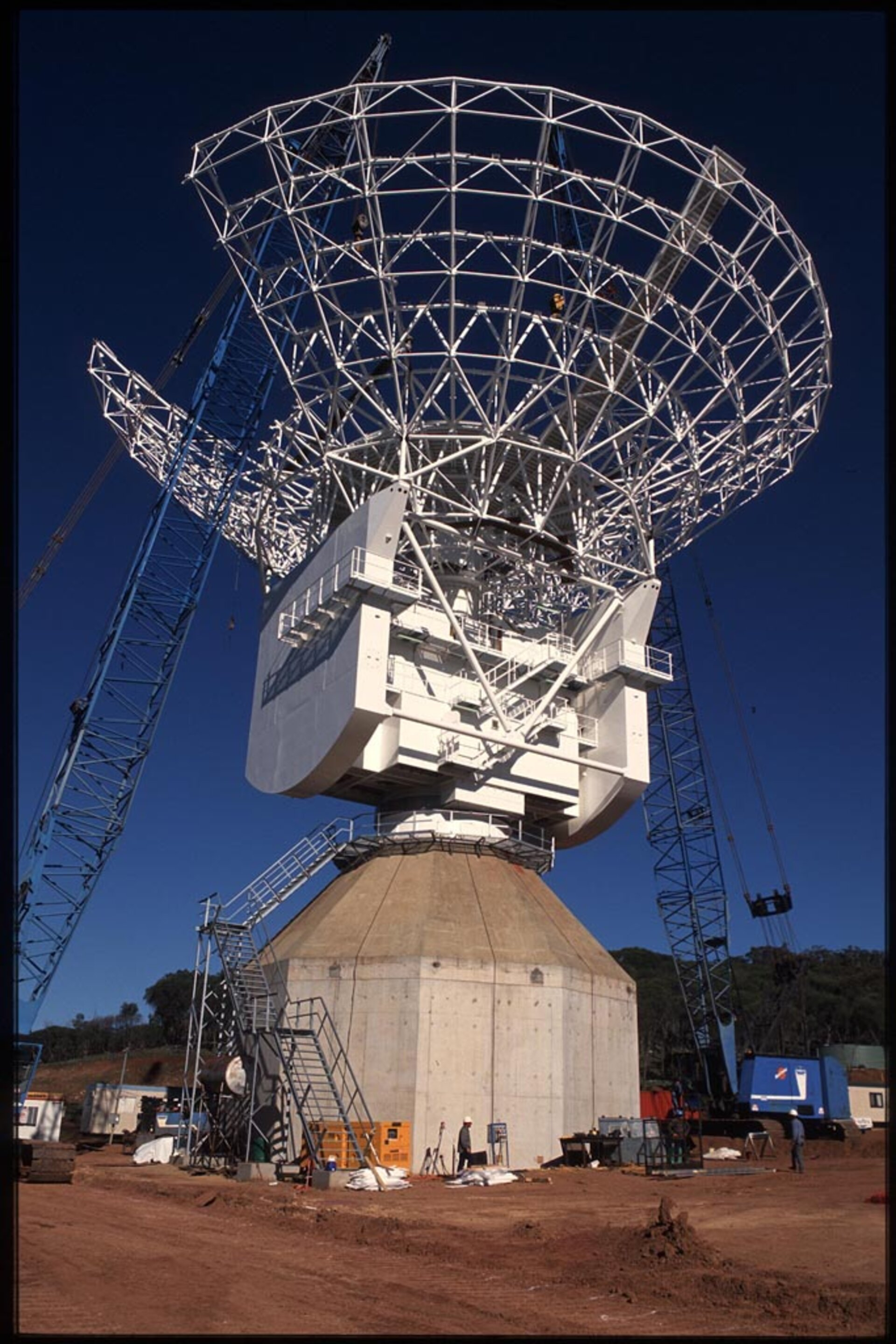 The framework of ESA's new antenna at New Norcia, Australia