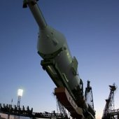 Soyuz transfer to launch pad