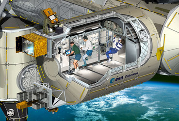 Cutaway view of Columbus laboratory