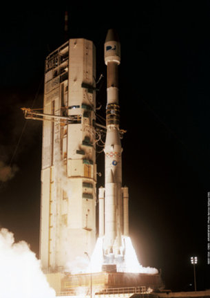Ariane-4 Flight 146 liftoff