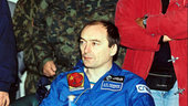 Jean-Pierre Haigneré returns from MIR