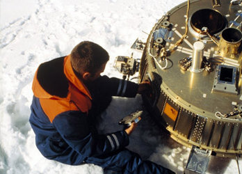 The Huygens Descent Module landed safely in the snows of Sweden