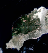 SPOT 4 image of Lanzarote in the Canaries