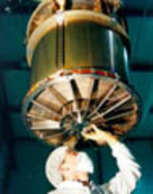One of three mirror modules in ESA's XMM-Newton satellite