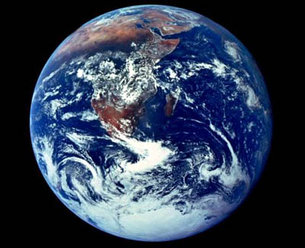 Planet Earth as seen by the Apollo17 astronauts