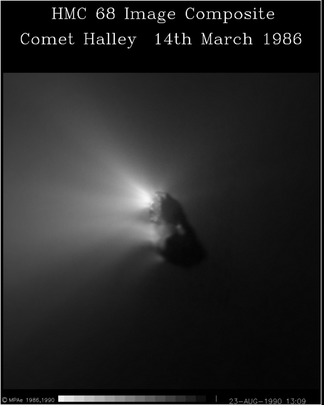 A composite image of the nucleus of comet P/Halley