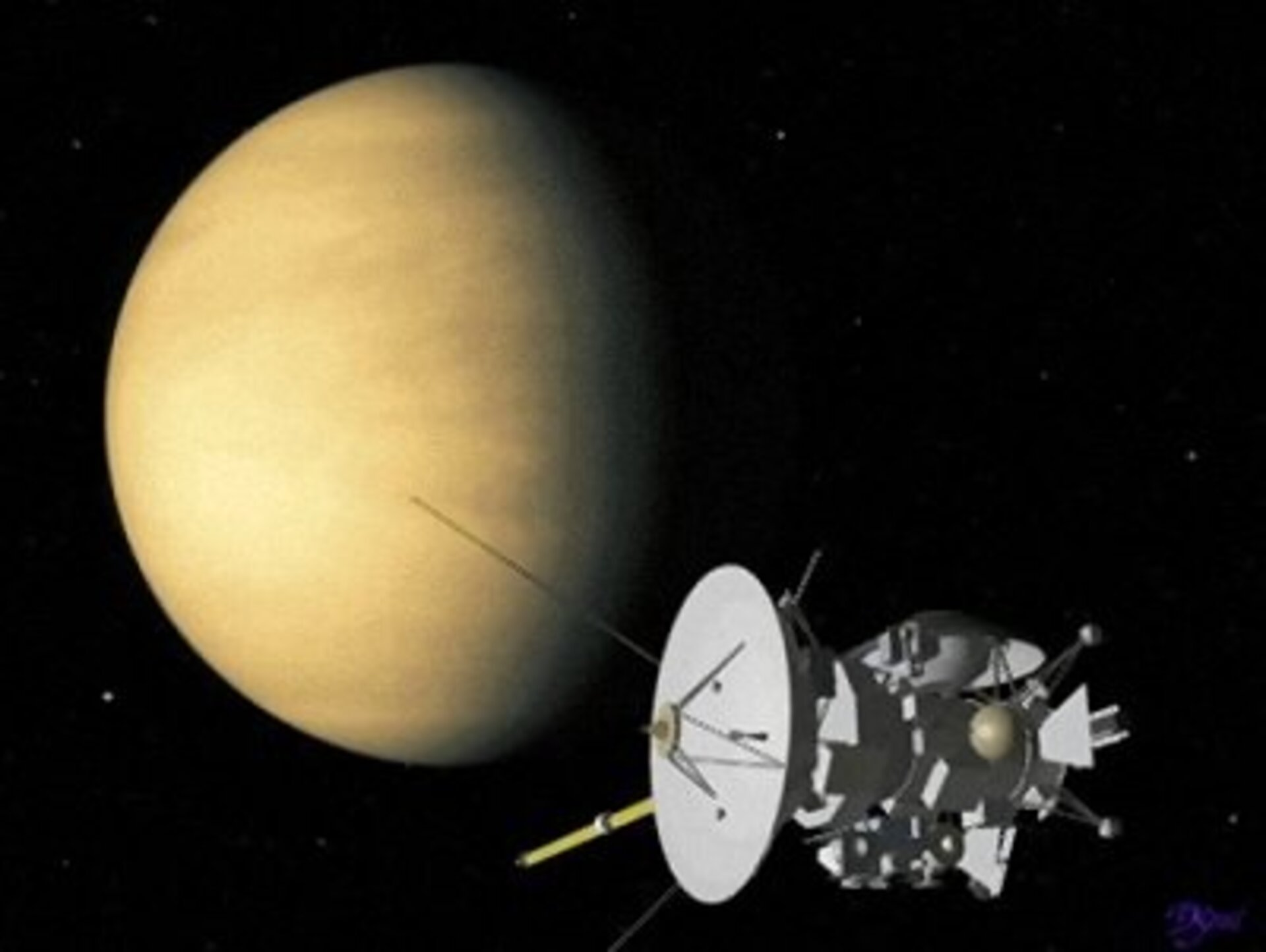 Cassini-Huygens swings by Venus