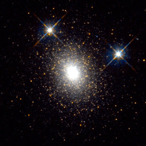 Globular cluster in the Andromeda galaxy