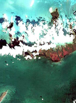 Image of the coast of Cuba taken by Proba