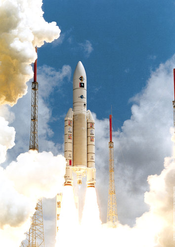 Launch of Ariane 5 flight 112