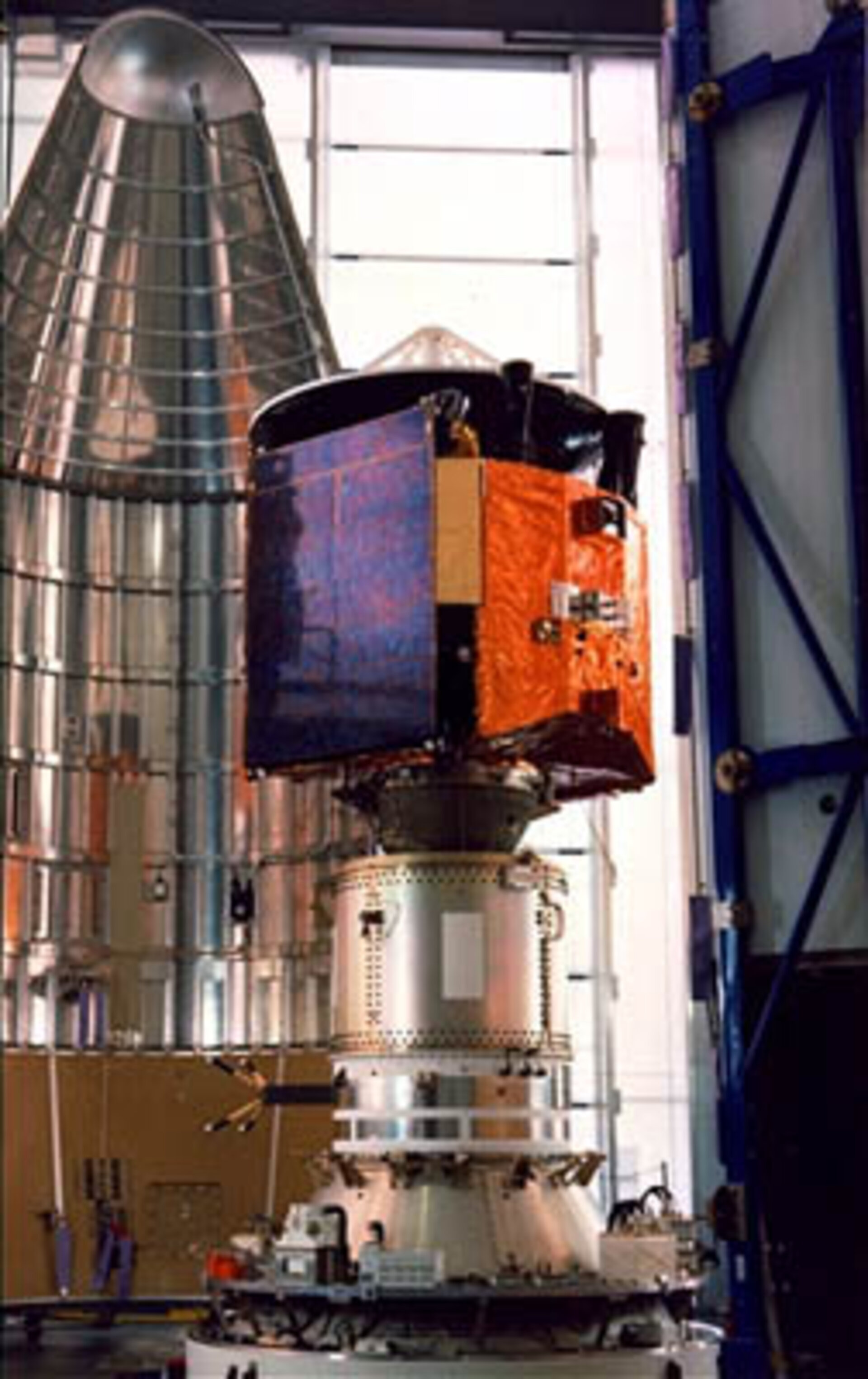 Marecs-A awaits encapsulation for its launch in 1981
