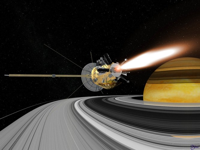 Saturn orbit insertion manoeuvre