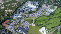 Aerial view of ESTEC's facilities