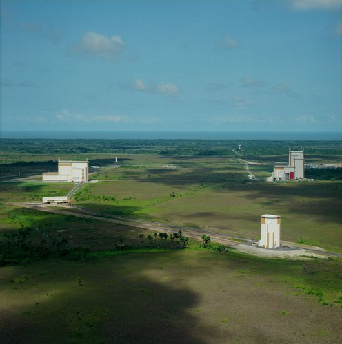 Aerial view of the Ariane-5 launch complex