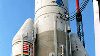 Ariane 504 on the launch pad.