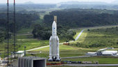 Ariane 5 on its way to the launch pad